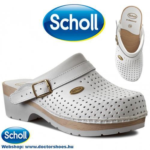 Scholl Clog Fa Fehér   DoctorShoes.hu