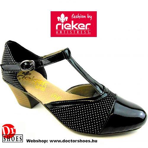 Rieker Plack Black | DoctorShoes.hu