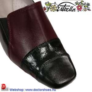 Estrella MIRA bordó-fekete   DoctorShoes.hu