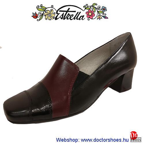 Estrella MIRA bordó-fekete | DoctorShoes.hu